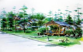 休闲木质景观亭