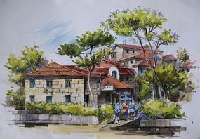 砖砌住宅景观