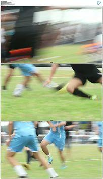 足球场踢足球比赛实拍视频素材
