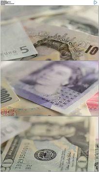 各国钱币实拍视频素材