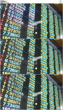 股市数据实拍视频素材