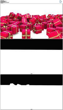 礼物盒掉落视频素材