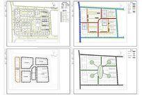 XXX住宅详细规划平面图及交通绿地分析图