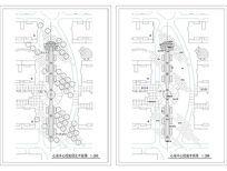 XX广场中心休闲绿地平面图