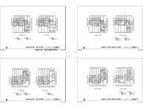 XX居住小区住宅室内平面图