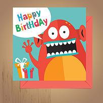 创意怪物生日卡设计