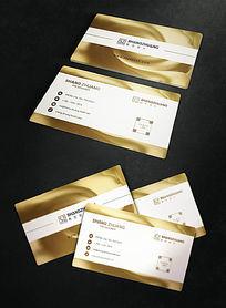 淡雅金粉名片