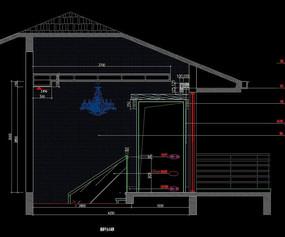 独层别墅楼梯平层立面图