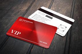 红色质感VIP会员卡