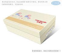 卡通图案底纹童鞋彩盒素材包装设计 CDR