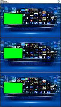 科技环球新闻虚拟演播室视频素材