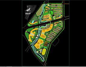 某小区绿化平面图 dwg