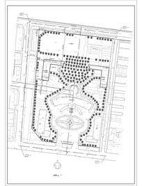 某政府大楼前广场规划总平面图