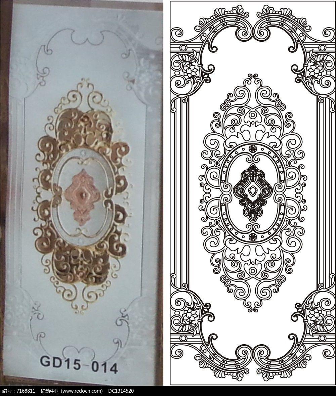 欧式花中式雕刻图案cdr素材下载