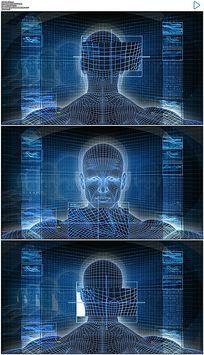 全息科技人体展示视频素材