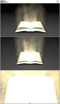 散发着粒子光芒的智慧之书视频素材
