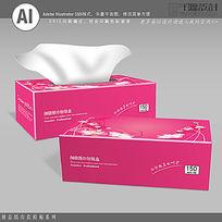 时尚花纹背景纸巾盒素材下载