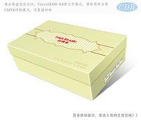时尚简约鞋盒包装设计 CDR