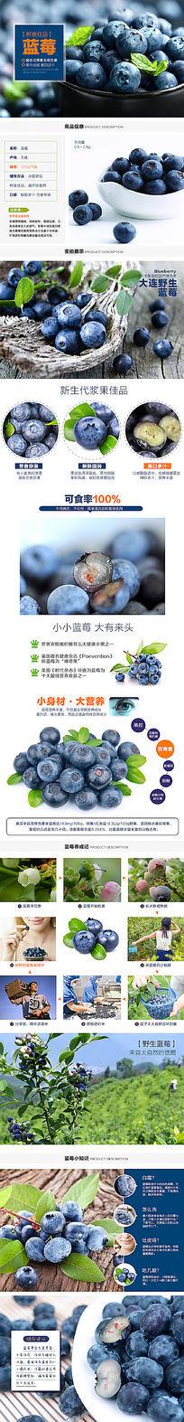 淘宝水果蓝莓详情页描述