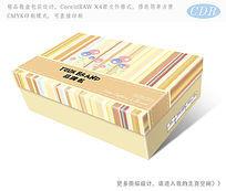 条纹时尚背景鞋盒包装设计 CDR