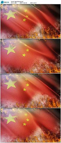 五星红旗燃烧视频