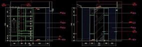 造型鞋柜内部结构图外立面图
