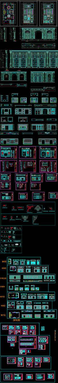 整木展厅展会全套设计CAD图深化拆单图