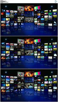 3d蓝色虚拟演播室视频素材
