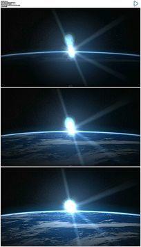 大气地球日出天际线日出实拍视频素材 mov