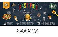 汉堡店?#28393;?#24215;艺术墙画海报设计