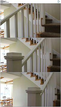 家居地毯楼梯实拍视频素材
