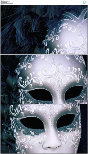 狂欢节面具实拍视频素材