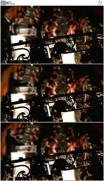 音乐会乐团实拍视频素材