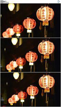 中国节日祝福灯笼实拍视频素材