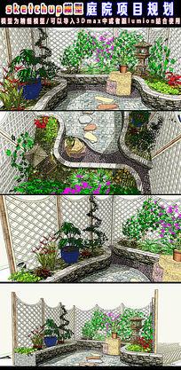 SU草图大师庭院项目规划