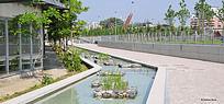 带状水景池子