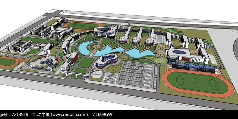 大学校园整体规划设计图片
