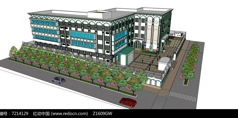 靠街校园规划设计图片