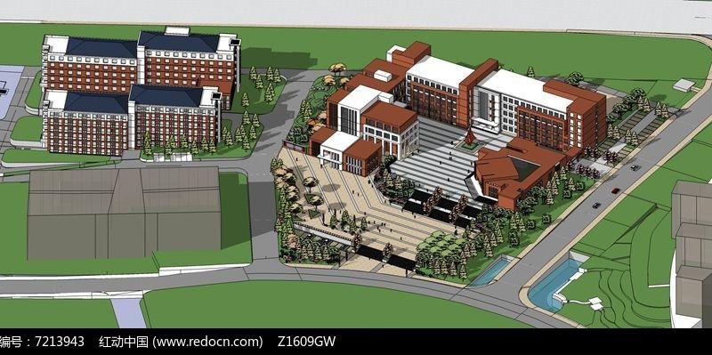 现代校园规划设计图片