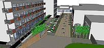 现代校园设计模型