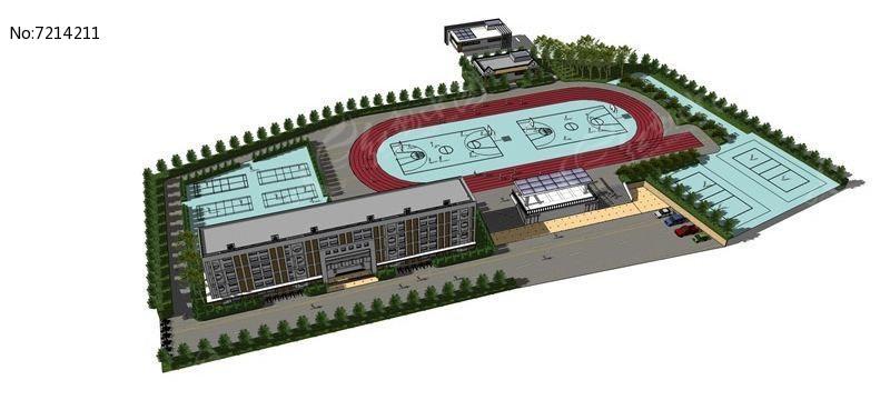 小学规划设计模型图片