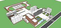 校园景观设计模型