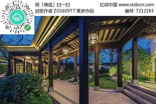 新中式景观廊架