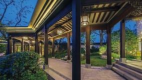 新中式景观廊架图片