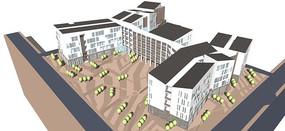 中式校园设计模型