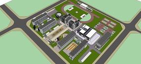 中式校园设计全模