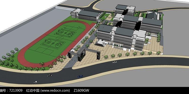 中式学校规划设计图片