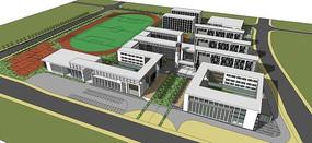 中式学校模型