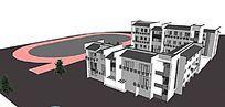 中式学校设计模型