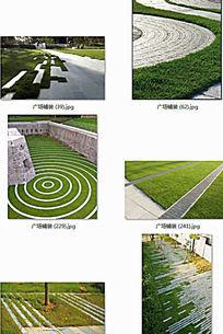 草坪铺装景观 JPG